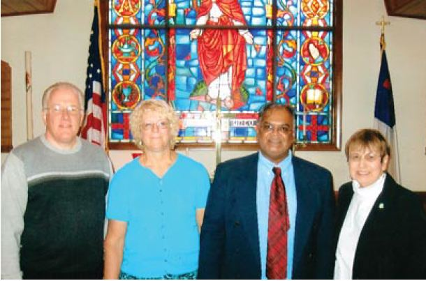 Randy Harry & wife Helen welcomed to Trinity United Methodist Church  in November 2011