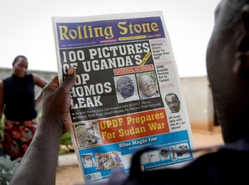 "Uganda newspaper  featured a list of Uganda's 100 ""top"" homosexuals"